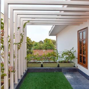 Bild på en orientalisk balkong