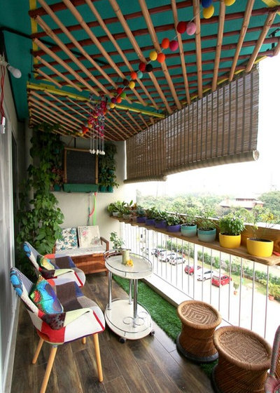 Eclectic Balcony by Thumbnail Design Studio