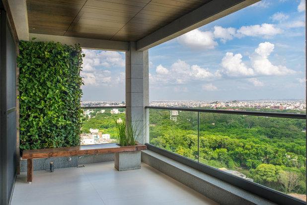 Modern Balcony by Ricken Desai Photography