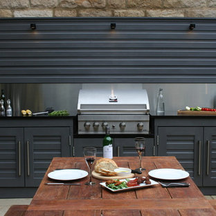 Inspiration for a contemporary terrace and balcony in Other with an outdoor kitchen.