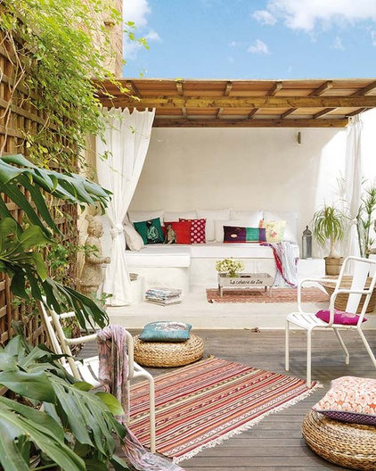 eclectic patio by Vuong Interior Design