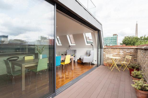 Contemporáneo Terraza y balcón by Chris Snook