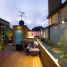Contemporary Deck by MyLandscapes - Amir Schlezinger