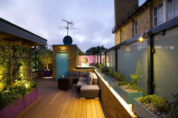 Contemporary terrace by mylandscapes amir schlezinger