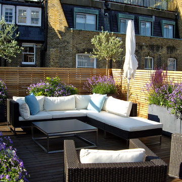 Contemporary roof terrace, Marylebone, London