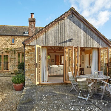Country Home with Timber Replacement Windows Finished in Irish Oak