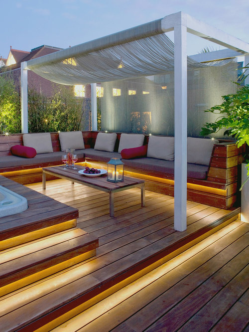 tropical deck design ideas remodels photos - Outdoor Deck Design Ideas