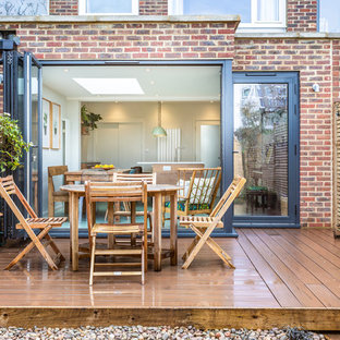 Design ideas for a contemporary back terrace in London with no cover.
