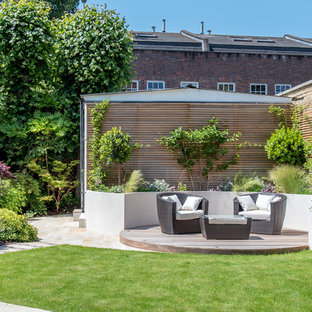 Photo of a medium sized contemporary back terrace and balcony in London.