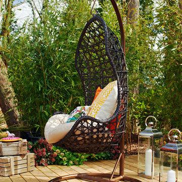 Indoor Outdoor Rattan Garden Hanging Chair