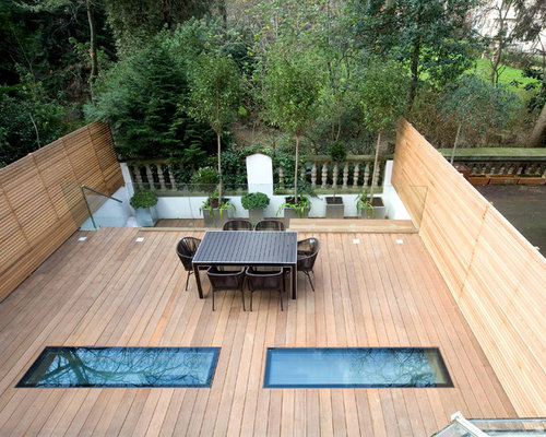Rooftop terrace home design ideas pictures remodel and decor for Glass deck floor