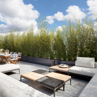 This is an example of a contemporary roof terrace and balcony in London.