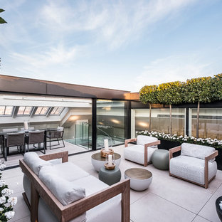 This is an example of a contemporary terrace in London.