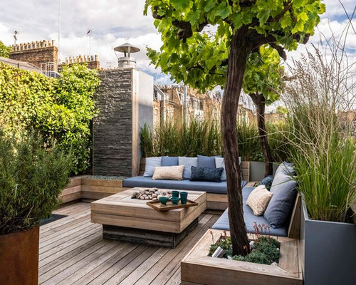 Inspiration For A Contemporary Rooftop Deck Container Garden Remodel In  London