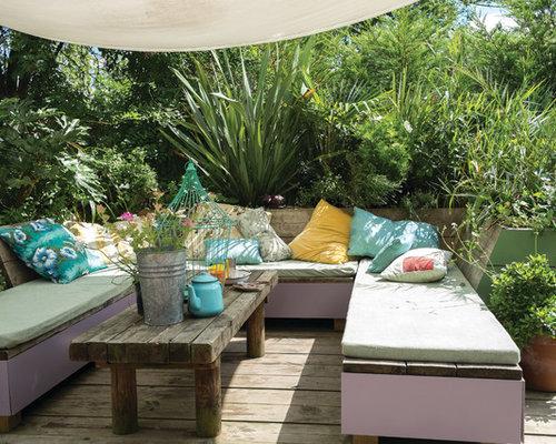 eklektische terrasse mit k belpflanzen ideen f r die terrassengestaltung houzz. Black Bedroom Furniture Sets. Home Design Ideas