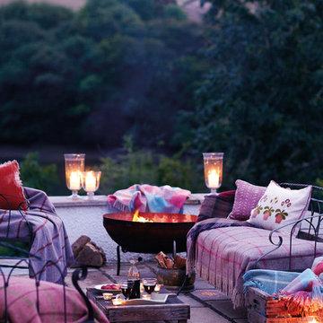 Patio Terrace Summer Evening