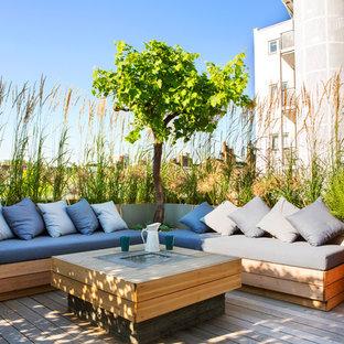 Ispirazione per terrazze e balconi design di medie dimensioni