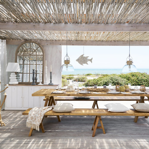 maritime terrasse mit pergola ideen design bilder houzz. Black Bedroom Furniture Sets. Home Design Ideas