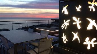 Terrasse minimaliste Corniche Kennedy Marseille