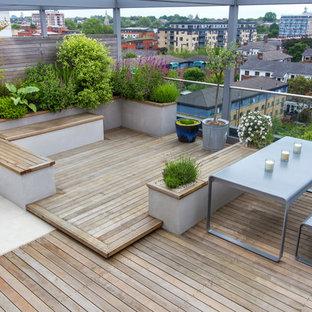 Deck container garden - contemporary rooftop rooftop deck container garden idea in Berkshire with no cover