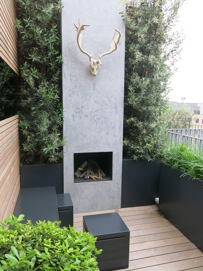Contemporary Terrace & Balcony by Charlotte  Rowe Garden Design