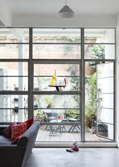 Industriel Terrasse en Bois by Chris Dyson Architects