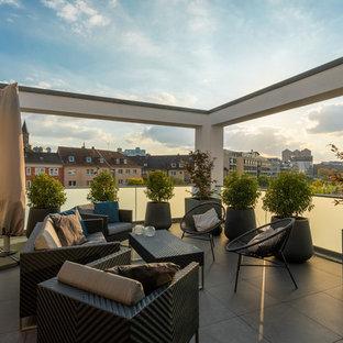 Unbedeckte Moderne Dachterrasse in Essen