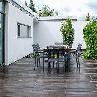Unbedeckte Moderne Terrasse in Frankfurt am Main
