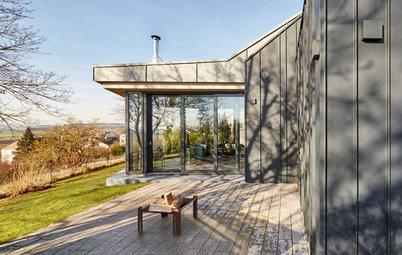 Architektur: Anbau & Aluminiumfassade für ein Haus im Altmühltal