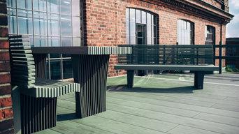 Dachterrasse megawood® LITUM Neo Rauch Leipziger Baumwollspinnerei