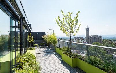 Houzz Австрия: Террасы с мини-огородом и душем на крыше