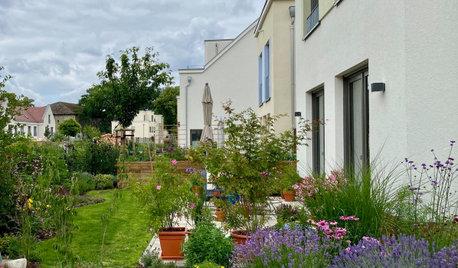Altes und Neues für einen Reihenhaus-Garten in Berlin