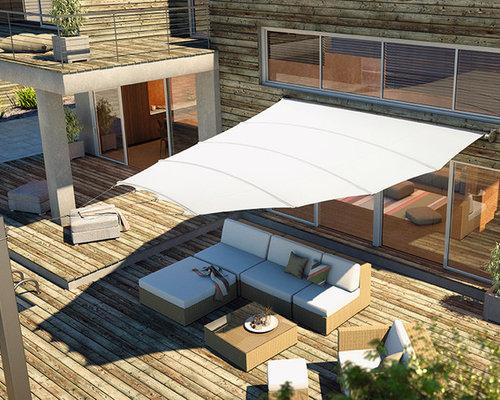 sonnensegel terrasse ideen bilder houzz. Black Bedroom Furniture Sets. Home Design Ideas