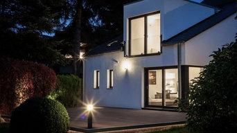 Fassadenansicht eines Einfamilienhauses