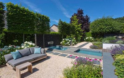 Gartenbesuch: Ein moderner Garten mit Sichtachse in Münster
