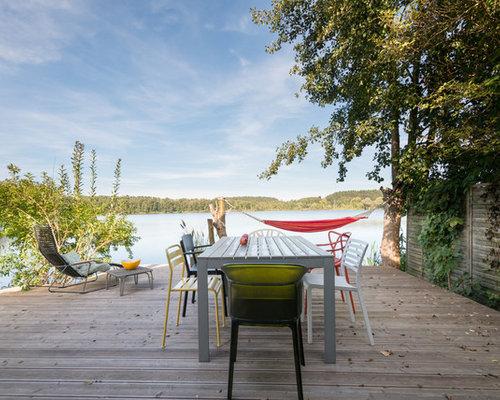 terrasse mit pflanzwand ideen f r die. Black Bedroom Furniture Sets. Home Design Ideas