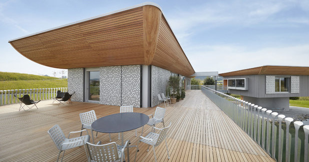 Contemporary Deck by Bau-Fritz GmbH & Co. KG