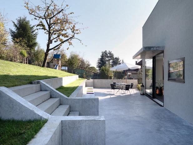 gr n trifft grau tipps und ideen f r beton im garten. Black Bedroom Furniture Sets. Home Design Ideas