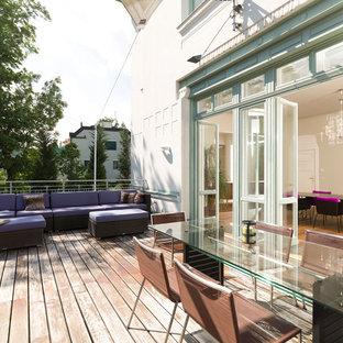Unbedeckte, Große Moderne Terrasse in Sonstige