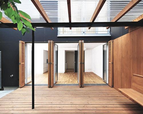 moderne terrasse mit pergola ideen design bilder houzz. Black Bedroom Furniture Sets. Home Design Ideas