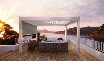 Lamaxa Lamellendach auf der Terrasse