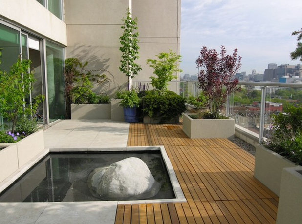 Contemporary Deck Modern Terrasse