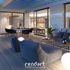 Luxurious apartment in berlin modern terrasse berlin for Gartengestaltung 30qm