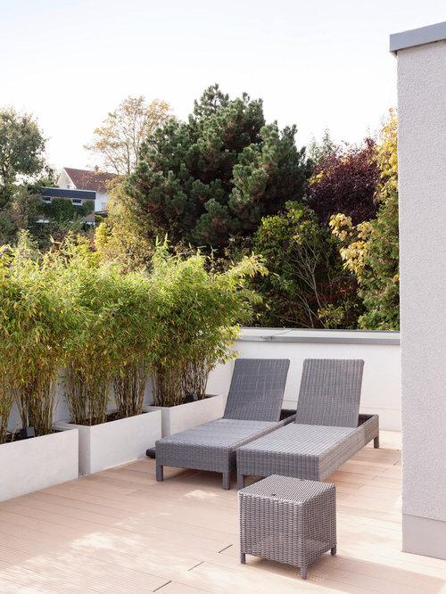 moderne terrasse mit k belpflanzen ideen f r die terrassengestaltung. Black Bedroom Furniture Sets. Home Design Ideas