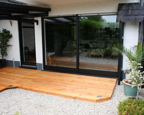 back terrace design ideas renovations photos. Black Bedroom Furniture Sets. Home Design Ideas