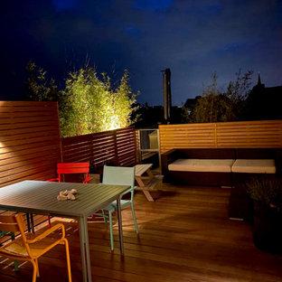 Idee per una terrazza minimal di medie dimensioni e sul tetto