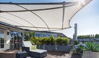 trapez4sun: dreidimensionales Sonnensegel für die Dachterrasse