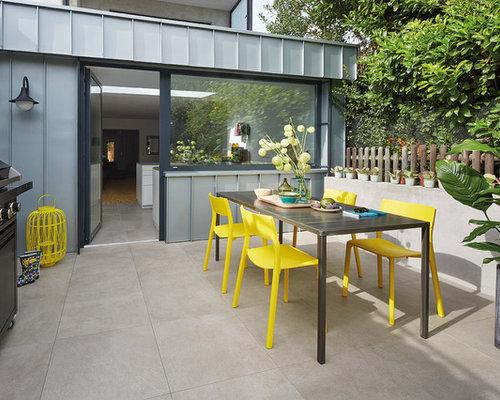Moderne Terrasse Hinter Dem Haus Ideen F R Die