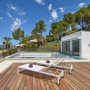 Diseño de terraza actual grande
