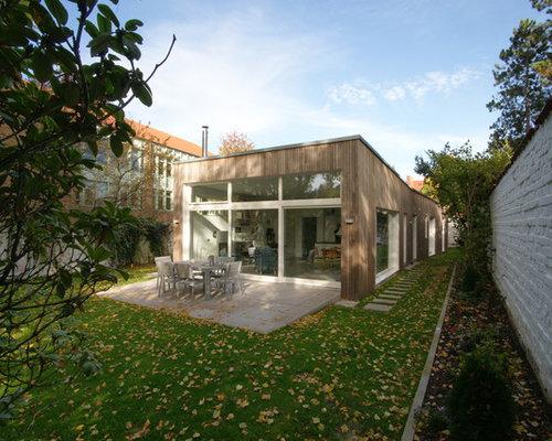 Moderne terrasse dortmund ideen design bilder houzz - Holzabtrennung garten ...